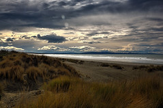 Looking Out (Kevin_Jeffries) Tags: coastal newzealand nikon nikkor kevinjeffries d7100 clouds dunes surf sand nature water east coast southisland canterbury light