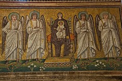 Mother of God (Charlemagne OP) Tags: church interior mosaic byzantine virginmary theotokos santapollinarenuovo ravenna emiliaromagna italy