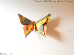 Butterfly - Reiko Tuttle by Michael G. LaFosse. (Magic Fingaz) Tags: barthdunkan butterfly kelebek mariposa origami origamibutterfly papillon бабочка лептир तितली ผีเสื้อ 나비 バタフライ 蝴蝶