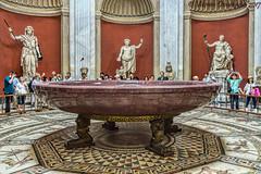 A bathtub fit for an emperor, Vatican Museums, Vatican City, Italy (vdwarkadas) Tags: vatican vaticanmuseum porphyry monsporphyrites nerosbathtub rome museum museums sony sonya6000