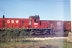 GB&W RS3 #308 in Green Bay on 5-22-76 (LE_Irvin) Tags: gbw greenbaywi rs3