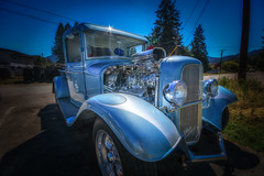 Blown Streetrod (writing with light 2422 (Not Pro)) Tags: blownstreetrod htt happytruckthursday truck washingtonstate richborder sonya77 vignette blue