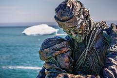 Sealers Memorial (Brett of Binnshire) Tags: hdr elliston manipulations lrhdr clearskies ocean locationrecorded water lightroomhdr highdynamicrange newfoundland canada weather iceberg ice