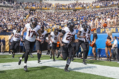 Pittsburgh Panthers vs Oklahoma State Cowboys Football Game, Saturday, September 16, Heinz Field, Pittsburgh, PA.  Bruce Waterfield/OSU Athletics (OSUAthletics) Tags: 2017 osu athletics big12 cowboys heinzfield oklahomastate oklahomastateuniversity pitt pittsburgh pokes universityofpittsburgh