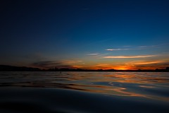 The unique shine of your eyes (Yarin Asanth) Tags: evening boat paddling magic love light kayaking blue orange surface water lakeconstance summer2016 yarinasanth gerdkozik