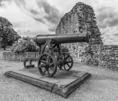 Cannon in the grounds (andymulhearn) Tags: xpro2 rochester kent samyang12mmf2ncscs dscf5939