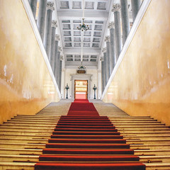 Red carpet (10000 wishes) Tags: stairs perspective angles russia travelphotography reflection door entrance building history