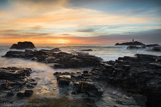 Sunset on the Rocks, Godrevy