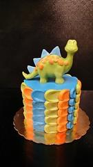 Dinosaur Cake (dragosisters) Tags: cake smash dinosaur blue orange green