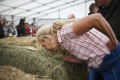 DSC07945editedit (Stephen Allport) Tags: anglesey wales competition farmer bail sony 35mm nex5n allport colour straw sniff smell lady