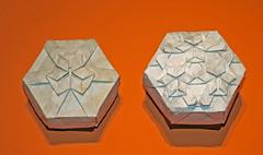Rhombus twist galaxy boxes (mganans) Tags: origami tessellation box