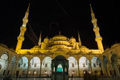 The magnificent Masjid of Sultanahmet... (Mahmood Salam) Tags: islam muslim muslims architecture masjid mosque istanbul turkey asia europe fujifilm fuji fujifilmxt1 lowlight night nightphotography nighttime