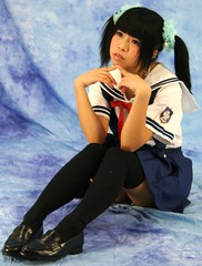 But Why Can't Class Be (emotiroi auranaut) Tags: girl school schoolgirl wonder wondering sad sadly disappointed student cute adorable sweet uniform face hair sit sitting shoes socks sadness unhappy pretty beauty beautiful