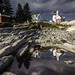 Last light before the storm (Elaine Schwetz Photography) Tags: me beach landscape lighthouse ocean rocks water light storm