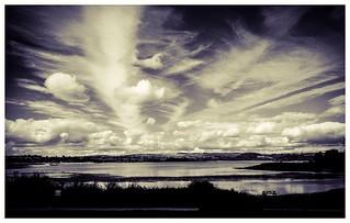 Converging Lines - Cloudscape over Carsington Water