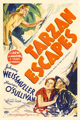 Tarzan Escapes (1936, USA) - 04 (kocojim) Tags: maureenosullivan illustrated kocojim poster johnnyweissmuller publishing advertising film illustration motionpicture movieposter movie