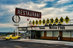 'Merica (Jim Nix / Nomadic Pursuits) Tags: 24240mm americana jimnix luminar macphun newmexico nomadicpursuits route66 santarosa sony sonya7ii restaurant sign travel vintage