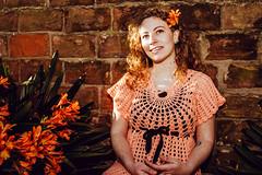 Inocencia (Lara Carro) Tags: girl retrato woman portrait sunlight naturallight rosa pink crochet romantic