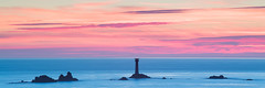 Longships Lighthouse (Michael Sowerby Photography) Tags: 2017 august cornwall evening seascape sunset water coast landscape sea sundown lighthouse longships dusk colour sky calm tranquil lands end landsend summer rocks west uk england photography millpond canon 70200mm 5dsr