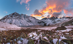 Harsh Awakening - San Juan Mountains (PatrickDillonPhoto.com) Tags: sunset alpinepeaks paintbrush wildflowers fall winter snowstorm alpinelakes weather hiking nature god creation sanjuanmountains