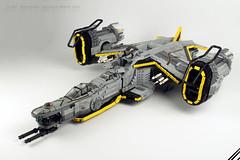 SHIPtember 2017 / AC 240 BRUTUS (stephann001) Tags: shiptember lego space ship gun