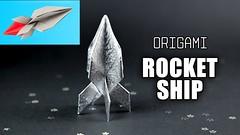 Origami Rocket Ship Tutorial 🚀 Flying Spaceship 🌙 Paper Kawaii (paperkawaii) Tags: origami instructions paperkawaii papercraft diy how video youtube tutorial