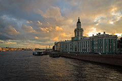Kunstkamera (VladimirTro) Tags: россия санктпетербург кунсткамера russia russian river neva sky sunset water waterscape light cloud colour canon europe outdoor building saintpetersburg cityscape kunstkamera eos dslr photo photography museum