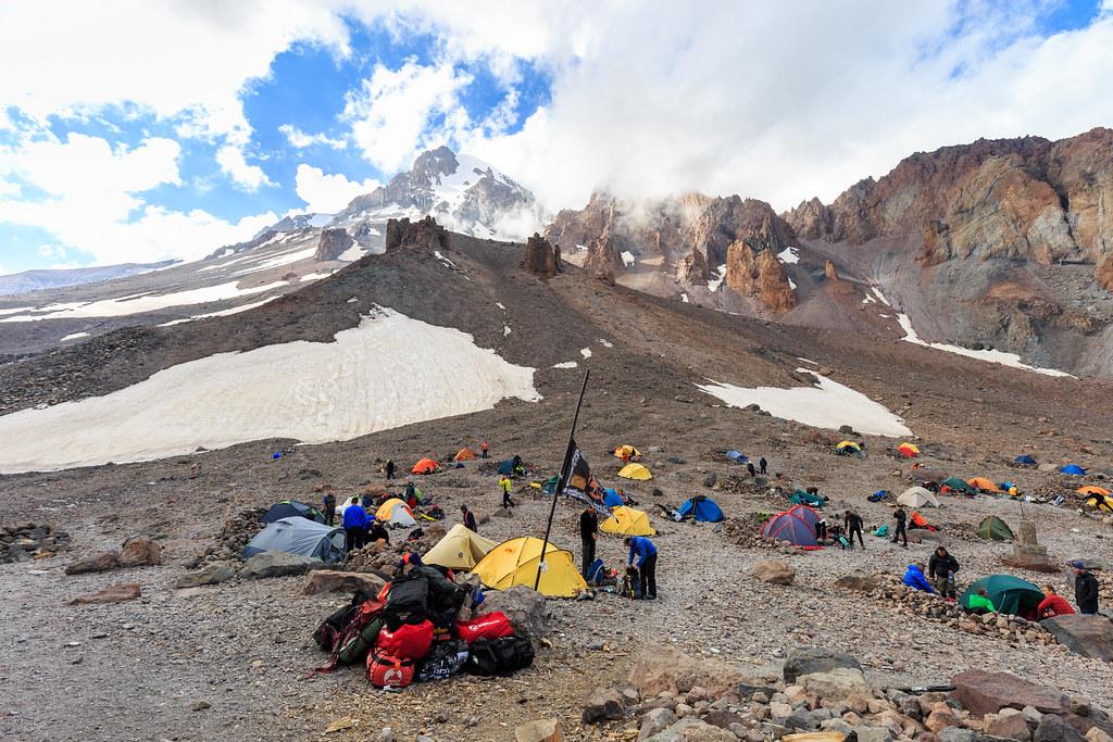 Kazbeg meteostation base camp.