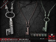 Rebellion KEY_TO_SUCCESS_NECKLACE_SIGN (hipstermens) Tags: hme hipstermensevent maleevent unisexevent rebellion accessories secondlife necklace unisexnecklace malenecklace