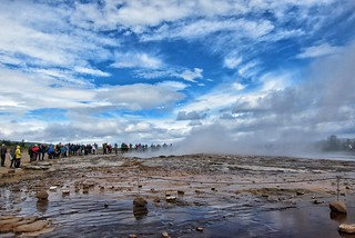 Republic of Iceland ~ Waiting for the Geyser to Perform ~ The Strokkur