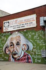 Street Art NYC: Bushwick Collective, Brooklyn (SomePhotosTakenByMe) Tags: alberteinstein einstein the genius bushwick spiros sign schild gebäude building architektur architecture urlaub vacation holiday usa unitedstates america amerika nyc newyorkcity newyork stadt city brooklyn outdoor bushwickcollective mural wandbild graffiti kunst art streetart strasenkunst