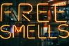 USA - Boston - Free Smells (st3000) Tags: north america northamerica usa boston massachusetts travel outdoor fuji xpro1 xf27 neon sign advertisement freesmells lights night nightshot free smells yellow orange