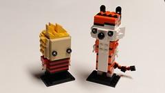Brickheadz - Calvin and Hobbes (Dodge...) Tags: lego slug 2017 brickheadz calvin hobbes cartoon
