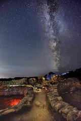 Camino a los Castros (yildelen) Tags: longexposure nikon landscape galicia castro baroña night milkyway