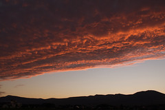 Hell Decends (jasohill) Tags: deep color sunset amazing nature hell mountains city iwate red 2017 hachimantai blood photography read sky japan landscape canonef24mmf28 matsuo canoneos80d japanese background mtmaemori