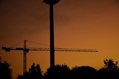 orange Morning (Tanja-Milfoil) Tags: sunrise earlymorning frühmorgens morning shot aufnahme milfoil tanja deutschland kran orangerhimmel sonnenaufgang germany rheinlandpfalz