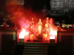 Prambanan end (treenquick) Tags: dance temple ballet java hanoman fire hero story sacred night art