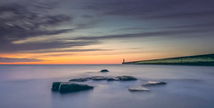 Show Yourself (ianbrodie1) Tags: tyneside tynemouth pier longexposure water ocean coast coastline colo cloud cloudsstormssunsetssunrises sea seascape nikon d750 leefilters horizon rocks