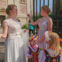 Bride, Bridesmaid and Flower Girls (prajpix) Tags: krakow poland wedding party bride bridesmaid flowergirl