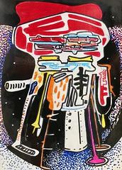 Jim Harris: Stockhausen Sirius Probe II (Jim Harris: Artist.) Tags: dessin lartabstrait ink abstractart modern art arte technology technik space cosmos drawing weltraum contemporary sirius