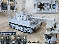 Pz.Kpf.W VI Ausf. E Tiger LEGO (Forestmän) Tags: lego wwii ww2 tiger tank ausf e pz 6 vi custom tigris