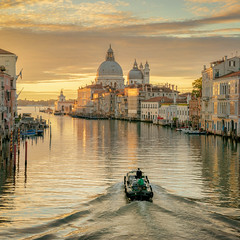 The Paperboy on his way in Venice