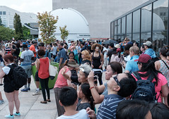 Crowds at the Phoebe Waterman Haas Public Observatory (ep_jhu) Tags: x100f 2017 washington eclipse eclipse2017 museum fuji observatory telescope crowd dc fujifilm nasm districtofcolumbia unitedstates us