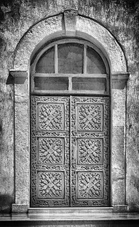 Traces of time. Wooden door of an Orthodox church in #Constanta, #Romania.