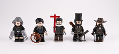 Martyrs of the New America's (Hammerstein NWC) Tags: lego tlc tlg minifigs figbarff custom steampunk whip claws cmf frnezy sixshooters sheriff lawman preacher cowboy western holysoldier christian witchfinder witch hunter