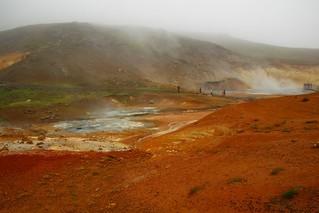 Seltun hot springs Krysuvik Iceland.
