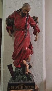 St Jean-Gabriel Perboyre (1802-1840), église St Cirq et Ste Julitte (XIIe-XVIe), Saint Cirq Lapopie, Quercy, Lot, Occitanie, France.