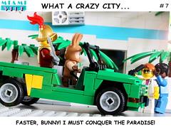 Miami Vice - Crazy City - Day 7/9 (y20frank) Tags: lego minifigures miami vice crockett tubbs tvseries humor mehari citroen