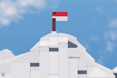 Glorious Indonesia! (Indonesia Jaya!) (Kamteey) Tags: lego moc mountain jayawijaya snow indonesia independence day special 72 celebration cad 3d blender blender3d b3d microscale independenceday flag
