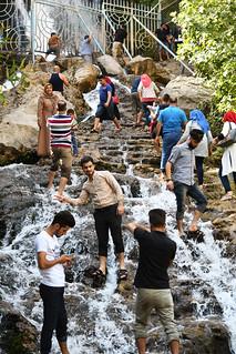 Locals seriously enjoying themselves at Ahmad Awa / Iraqi Kurdistan